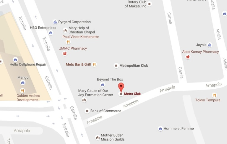 LOCATION MAP: Metro Club