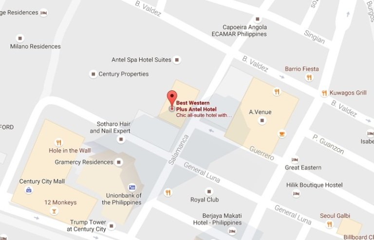 LOCATION MAP: Best Western Plus Antel Hotel