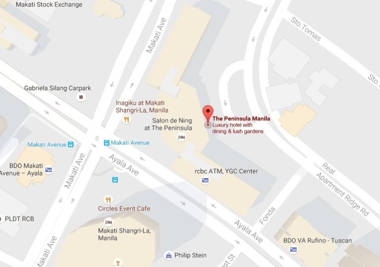 LOCATION MAP: The Peninsula Manila